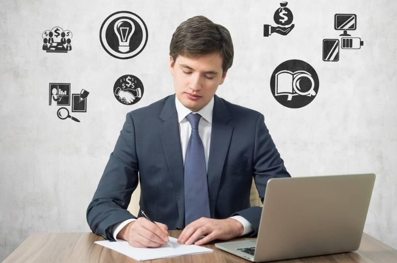 Business men in suit working
