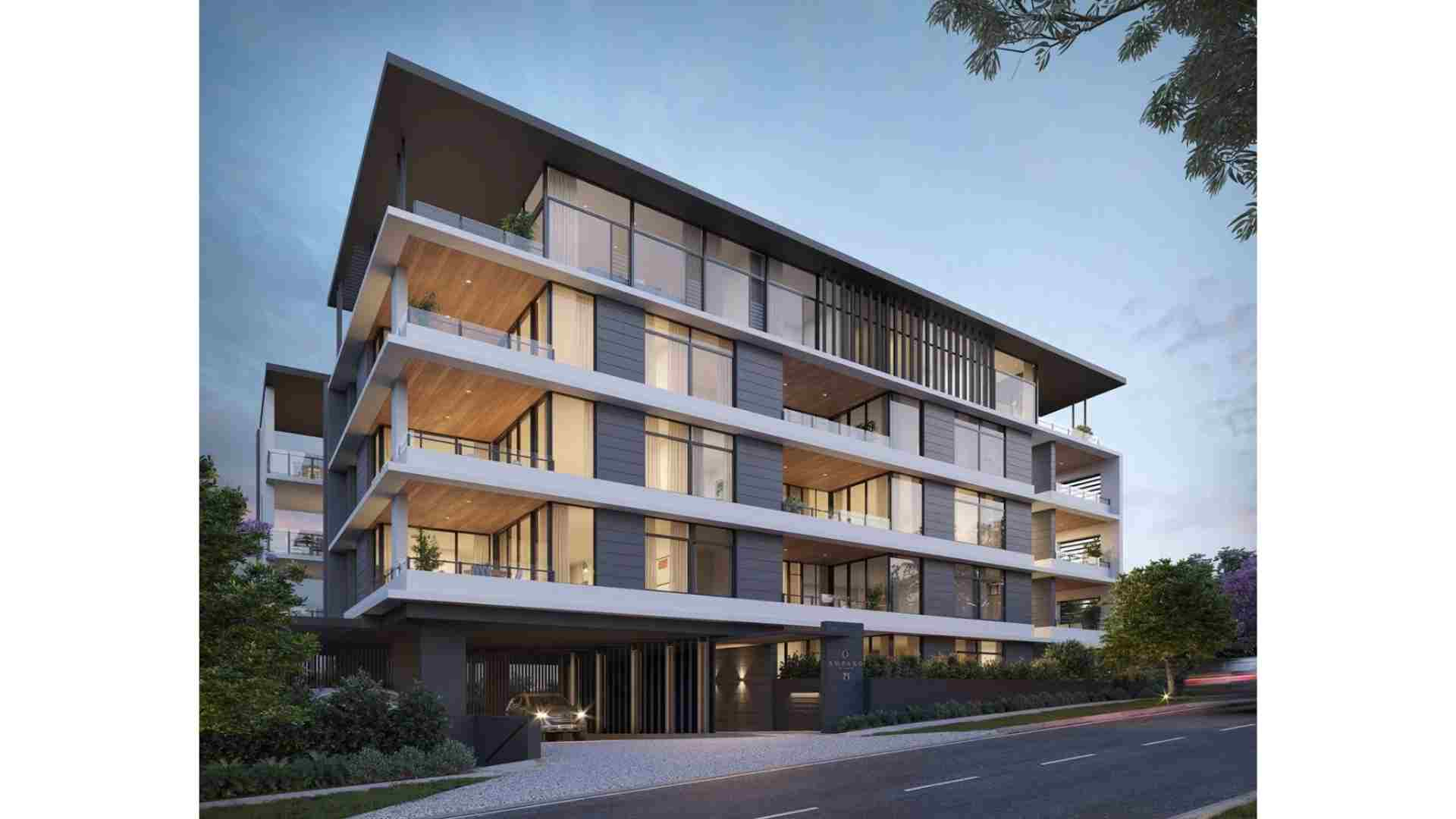 residential apartment with basement carpark