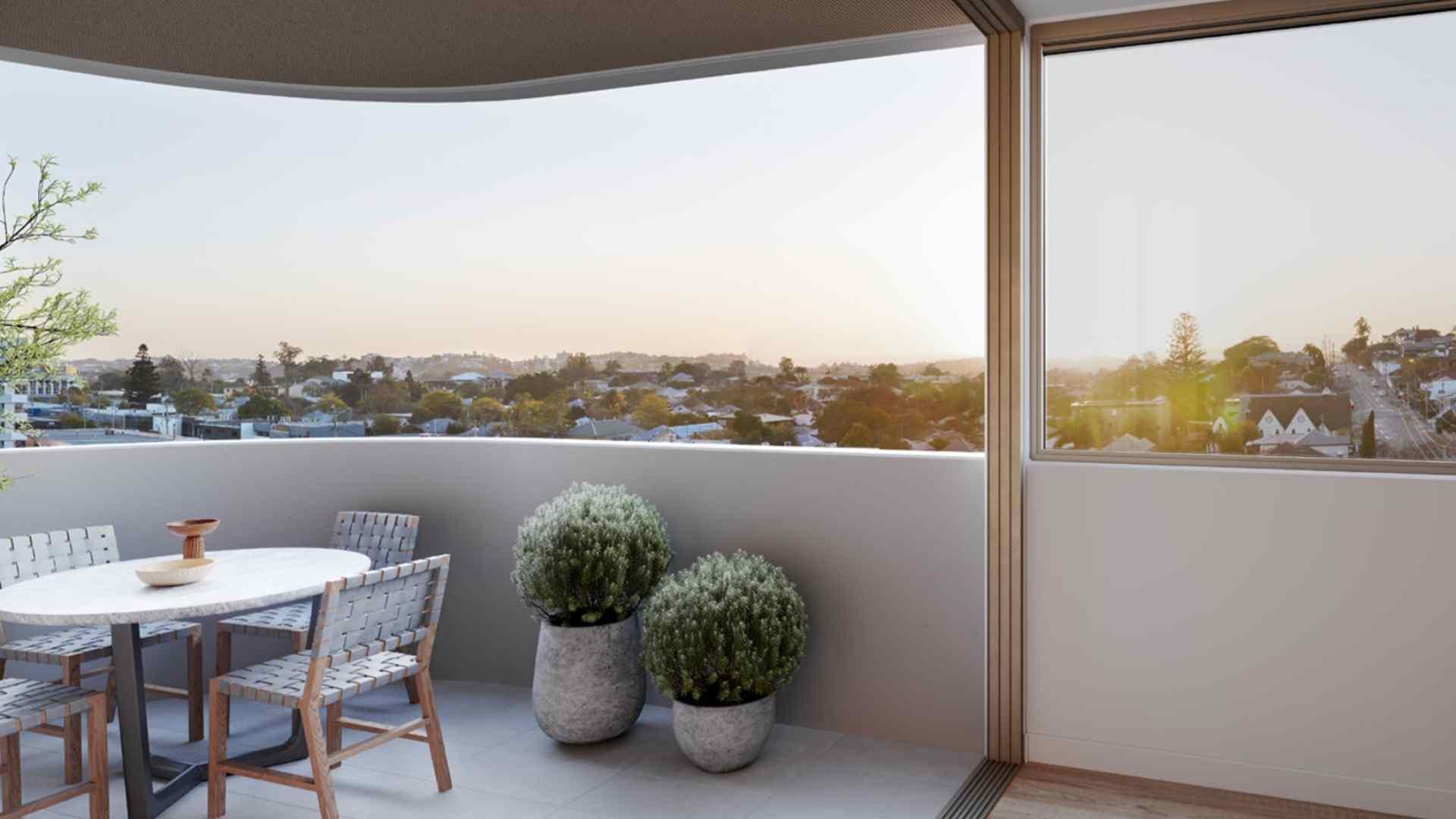 balcony looking over east Brisbane