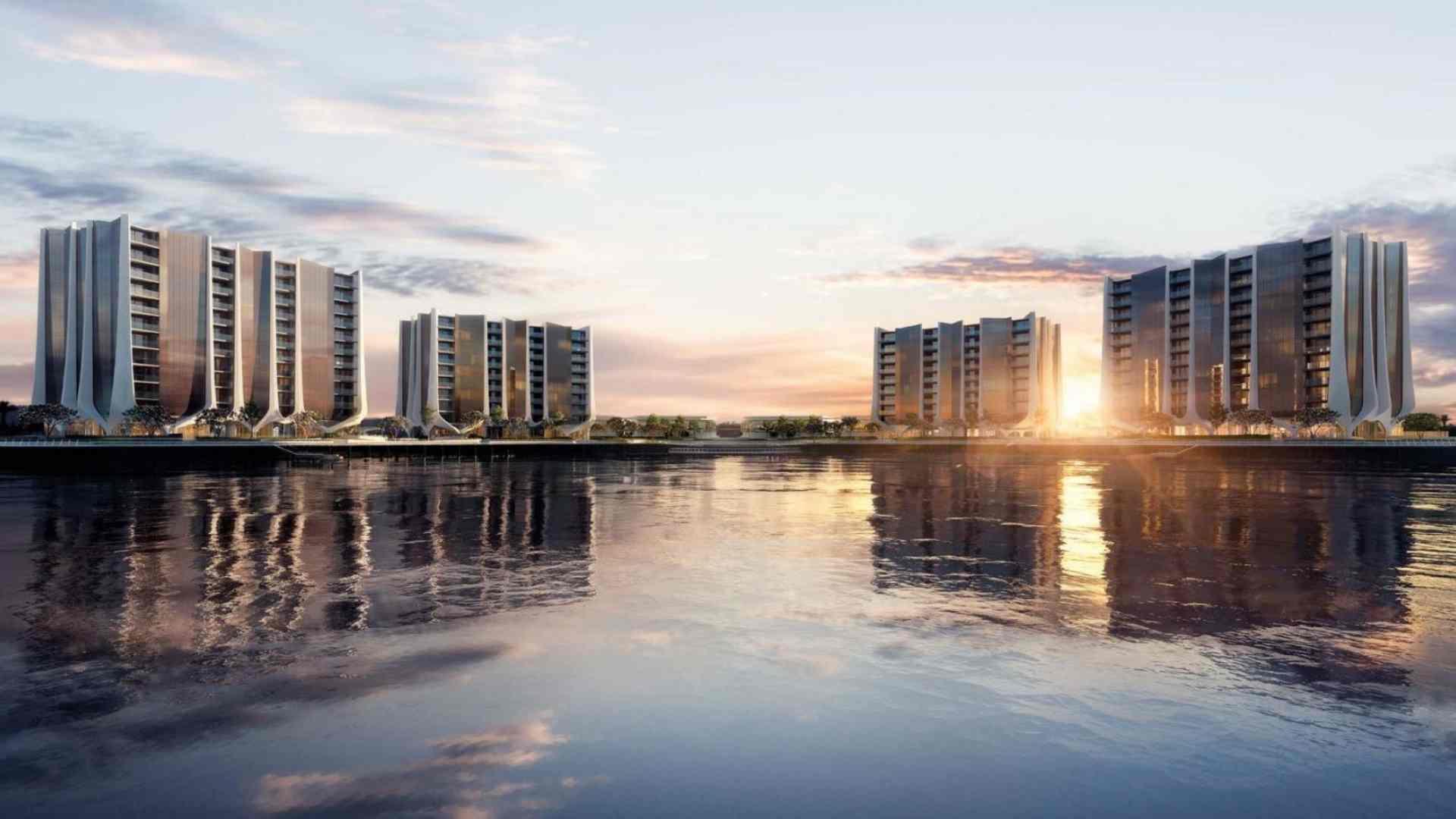 four elegant waterfront residential apartment buildings