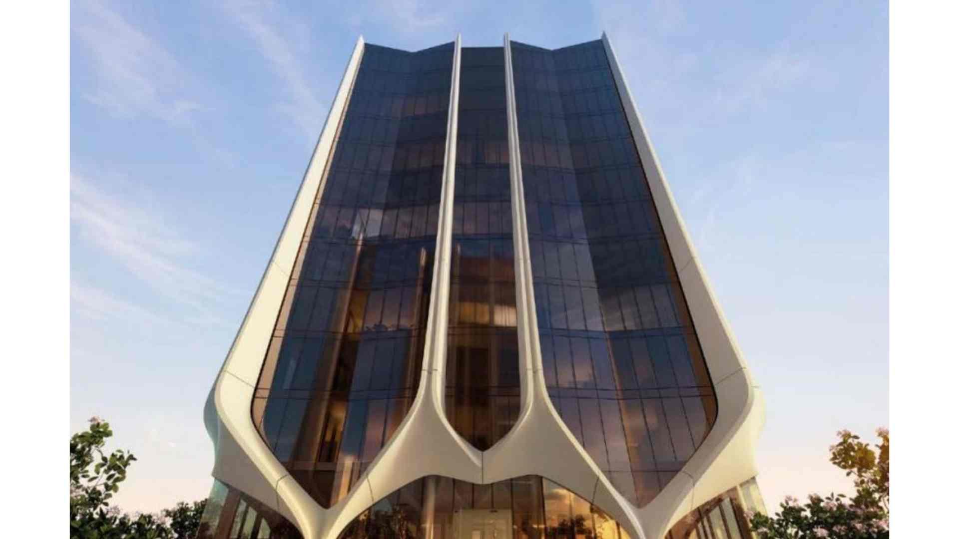 futuristic modern architectural building
