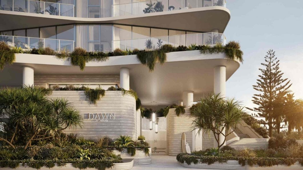 dawn residential apartment entrance