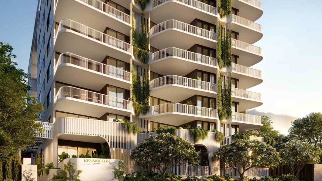 white residential apartment building in QLD Australia