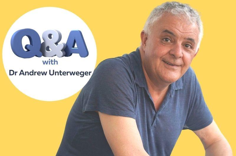 Dr Andrew Unterweger in a blue shirt