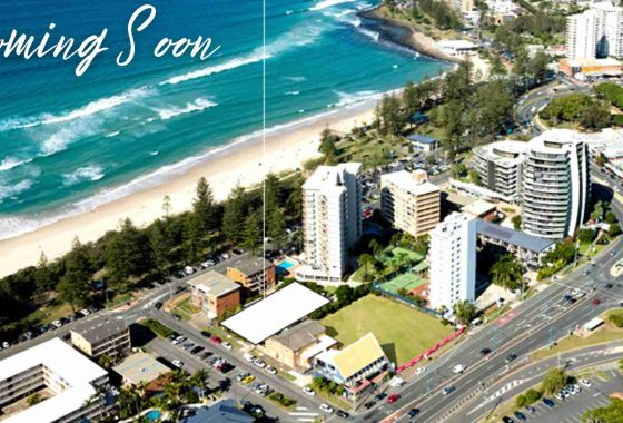 residential area by the beach in gold coast australia